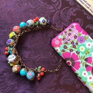 Fun Fruit and Floral Necklace